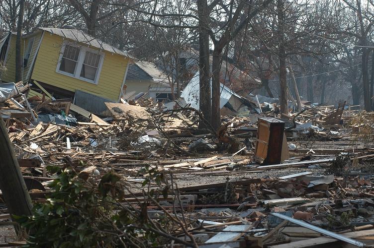 Biloxi, Miss., September 3, 2005 -- Damage and destruction to houses in Biloxi, Mississippi. Hurricane Katrina caused extensive damage all along the Mississippi gulf coast. FEMA/Mark Wolfe