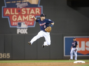 MLB: AUG 19 Indians at Twins